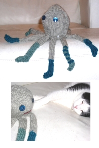 The socktopus takes on the white beast