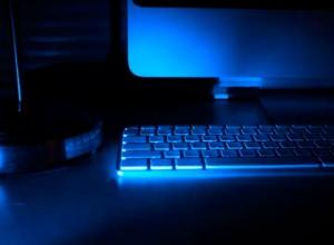 blue computer by Noerah Alvi