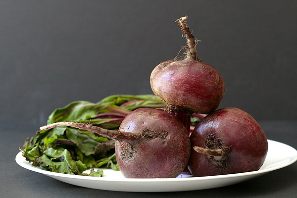 beets in a plate
